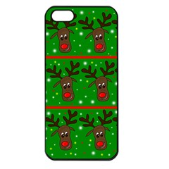 Reindeer pattern Apple iPhone 5 Seamless Case (Black)