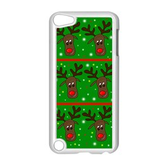 Reindeer pattern Apple iPod Touch 5 Case (White)