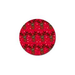 Reindeer Xmas pattern Golf Ball Marker