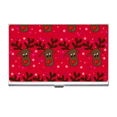 Reindeer Xmas pattern Business Card Holders