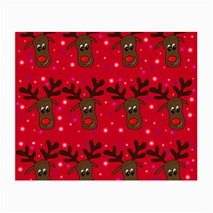 Reindeer Xmas pattern Small Glasses Cloth (2-Side)