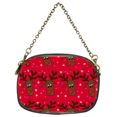 Reindeer Xmas Pattern Chain Purses (two Sides)