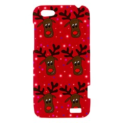 Reindeer Xmas pattern HTC One V Hardshell Case