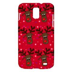 Reindeer Xmas pattern Samsung Galaxy S II Skyrocket Hardshell Case