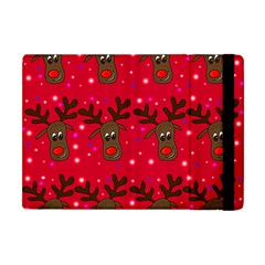 Reindeer Xmas pattern Apple iPad Mini Flip Case