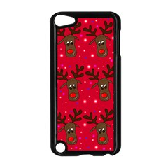 Reindeer Xmas pattern Apple iPod Touch 5 Case (Black)