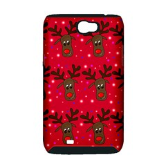 Reindeer Xmas pattern Samsung Galaxy Note 2 Hardshell Case (PC+Silicone)
