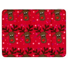 Reindeer Xmas pattern Samsung Galaxy Tab 7  P1000 Flip Case