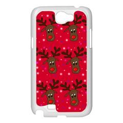 Reindeer Xmas pattern Samsung Galaxy Note 2 Case (White)