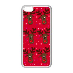 Reindeer Xmas Pattern Apple Iphone 5c Seamless Case (white)