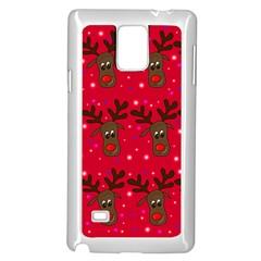 Reindeer Xmas pattern Samsung Galaxy Note 4 Case (White)