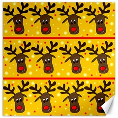 Christmas reindeer pattern Canvas 16  x 16