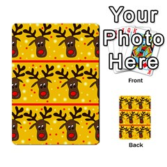 Christmas reindeer pattern Multi-purpose Cards (Rectangle)