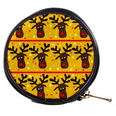 Christmas Reindeer Pattern Mini Makeup Bags