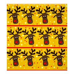 Christmas reindeer pattern Shower Curtain 66  x 72  (Large)