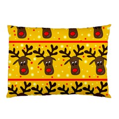 Christmas reindeer pattern Pillow Case (Two Sides)