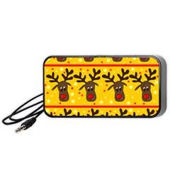 Christmas reindeer pattern Portable Speaker (Black)
