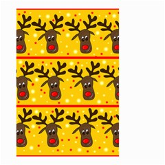 Christmas reindeer pattern Small Garden Flag (Two Sides)