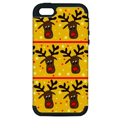 Christmas reindeer pattern Apple iPhone 5 Hardshell Case (PC+Silicone)