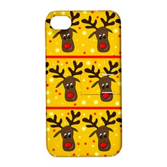 Christmas reindeer pattern Apple iPhone 4/4S Hardshell Case with Stand