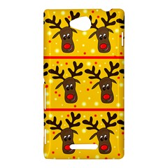 Christmas reindeer pattern Sony Xperia C (S39H)