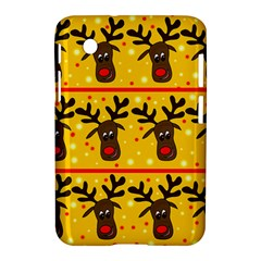 Christmas reindeer pattern Samsung Galaxy Tab 2 (7 ) P3100 Hardshell Case