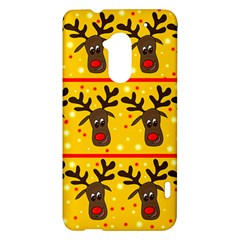 Christmas reindeer pattern HTC One Max (T6) Hardshell Case