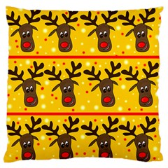 Christmas reindeer pattern Large Flano Cushion Case (One Side)