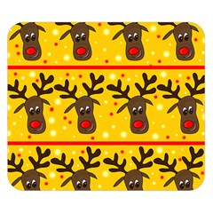 Christmas reindeer pattern Double Sided Flano Blanket (Small)