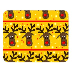 Christmas reindeer pattern Double Sided Flano Blanket (Large)