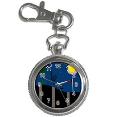 Abstract night landscape Key Chain Watches