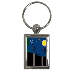 Abstract night landscape Key Chains (Rectangle)
