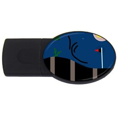 Abstract night landscape USB Flash Drive Oval (2 GB)