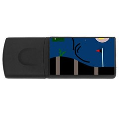 Abstract night landscape USB Flash Drive Rectangular (2 GB)