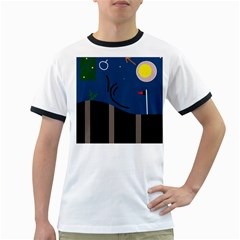 Abstract night landscape Ringer T-Shirts