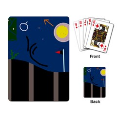 Abstract night landscape Playing Card