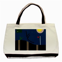 Abstract night landscape Basic Tote Bag