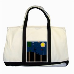 Abstract night landscape Two Tone Tote Bag