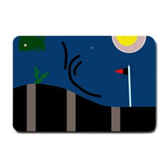 Abstract night landscape Small Doormat