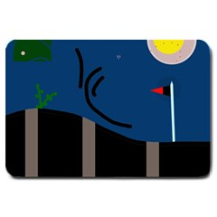 Abstract night landscape Large Doormat