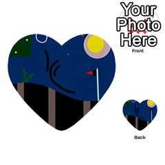 Abstract night landscape Multi-purpose Cards (Heart)