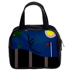 Abstract night landscape Classic Handbags (2 Sides)