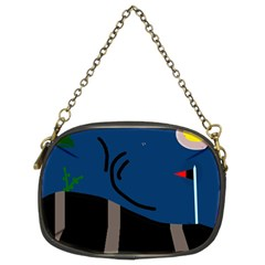 Abstract night landscape Chain Purses (Two Sides)
