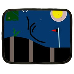 Abstract night landscape Netbook Case (XXL)