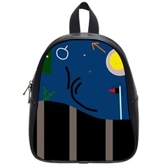 Abstract night landscape School Bags (Small)