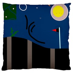 Abstract night landscape Large Cushion Case (One Side)