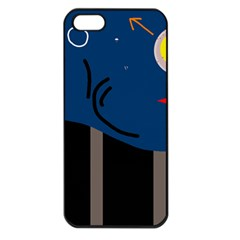 Abstract night landscape Apple iPhone 5 Seamless Case (Black)