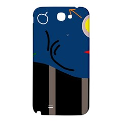 Abstract night landscape Samsung Note 2 N7100 Hardshell Back Case