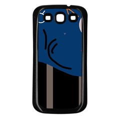 Abstract night landscape Samsung Galaxy S3 Back Case (Black)