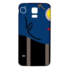 Abstract night landscape Samsung Galaxy S5 Back Case (White)